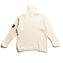 A/W 1994 Cream Wool Knit Collared Jumper