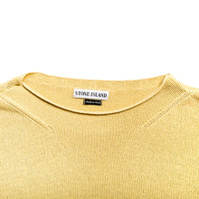 Load image into Gallery viewer, S/S 1997 Yellow Cross Knit Jumper