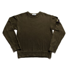 Load image into Gallery viewer, A/W 2004 Dark Olive Green Stitched Jumper