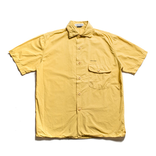 S/S 1997 Yellow Stencil Pocket Spell ShortSleeve Shirt
