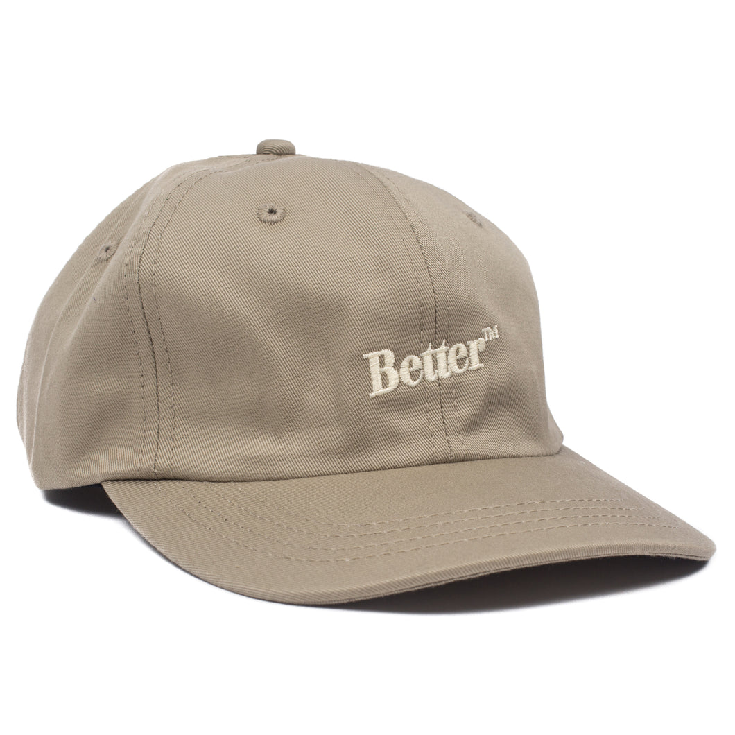 "Better™ Gift Shop- Khaki 6 Panel ""Logo"" Cap"