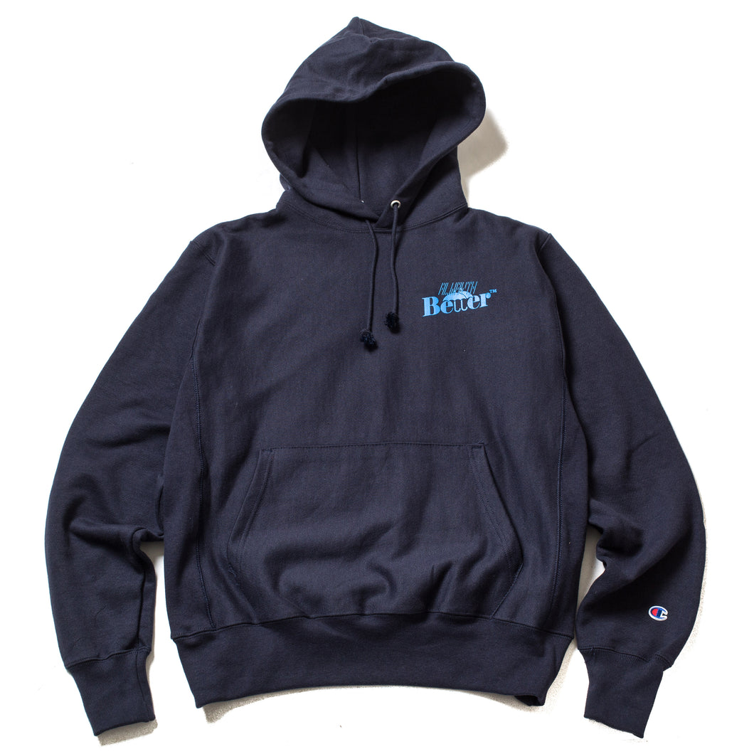 Alwayth Better™ Navy Champion Reverse Weave Hoodie