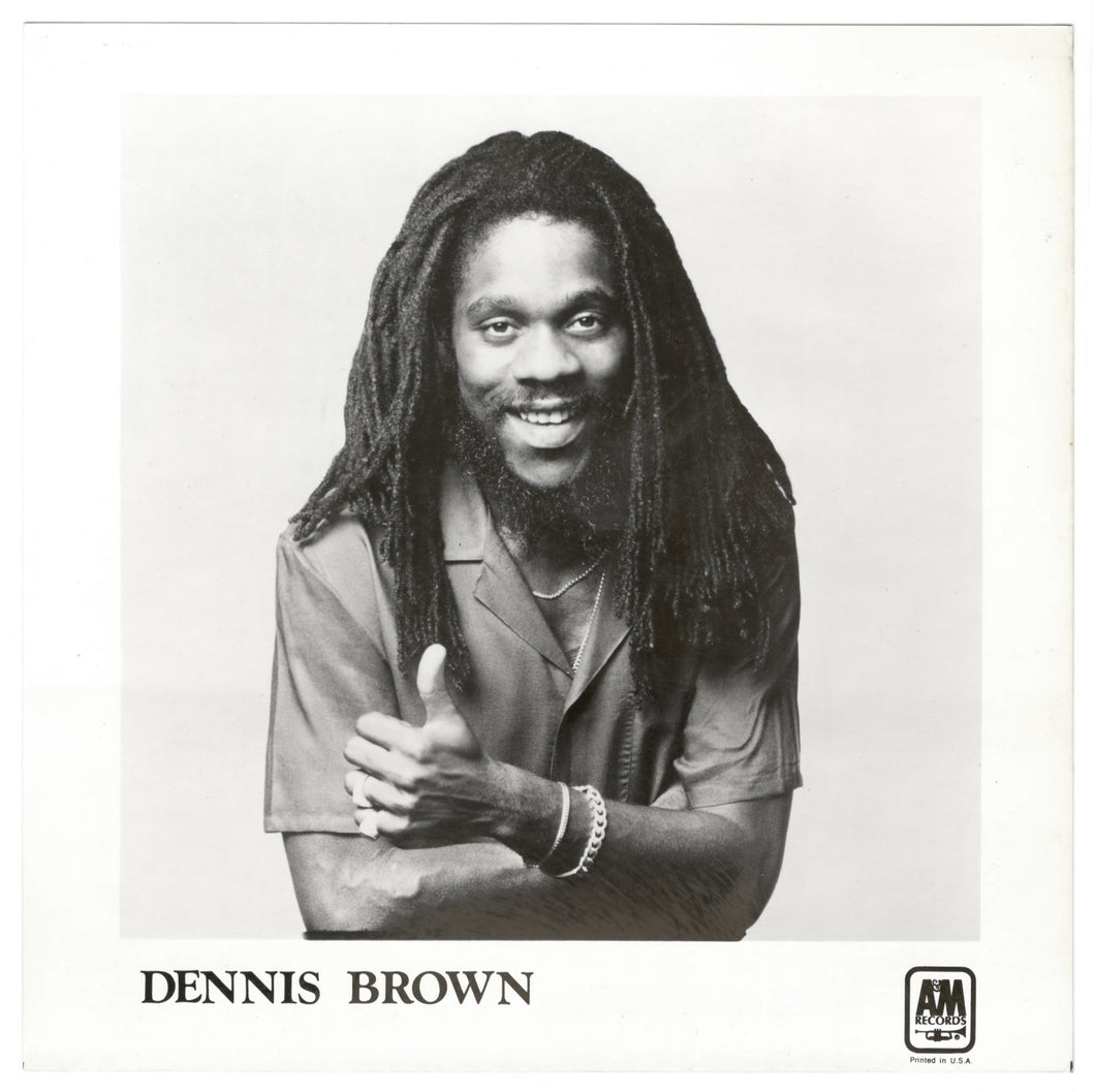 Vintage Dennis Brown 8x8 Press Photo