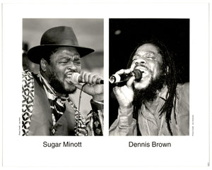 "Vintage Sugar Minott & Dennis Brown 8x10"" Press Photo"