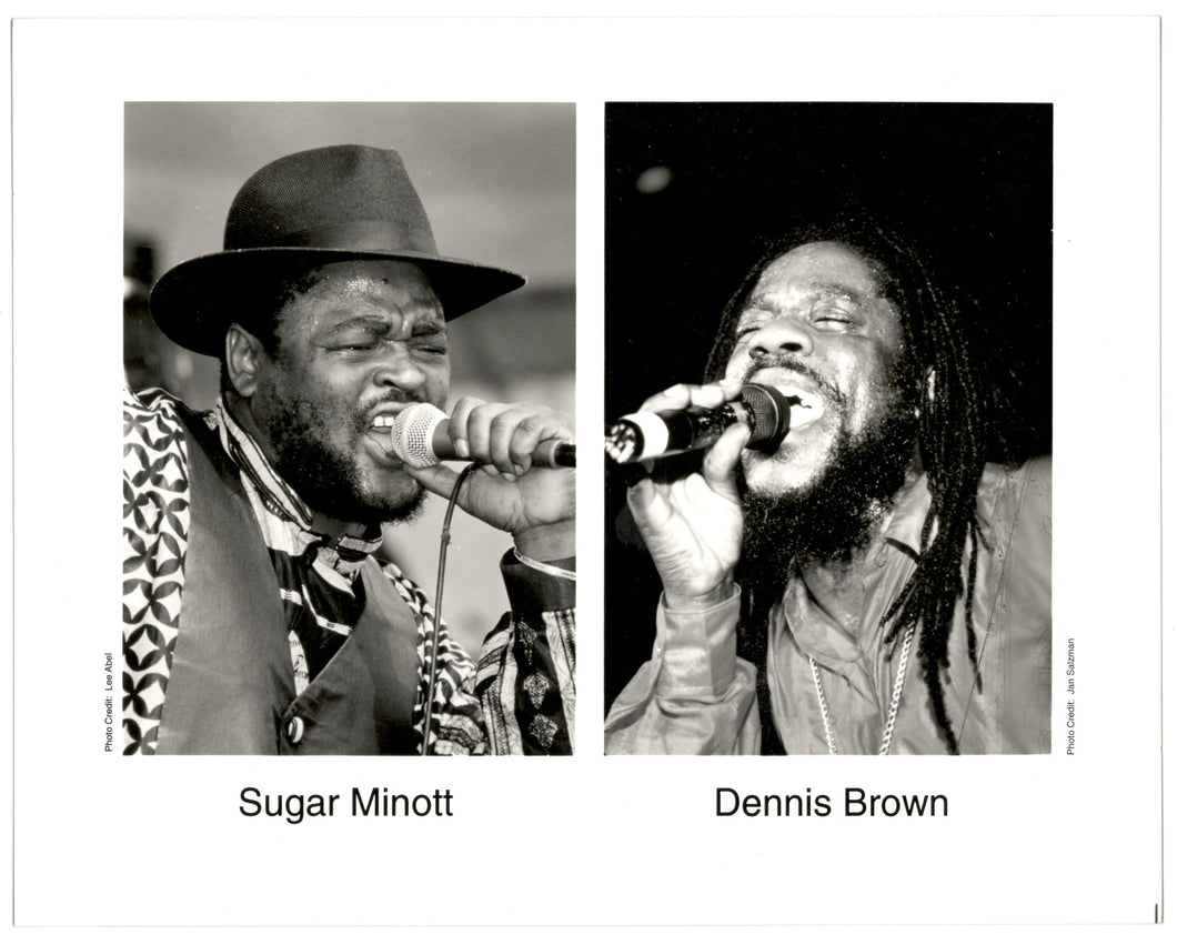 Vintage Sugar Minott & Dennis Brown 8x10
