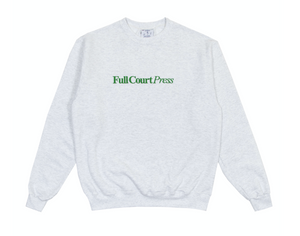 "Full Court Press - ""FCP Embroidered Logo"" Ash Crewneck"