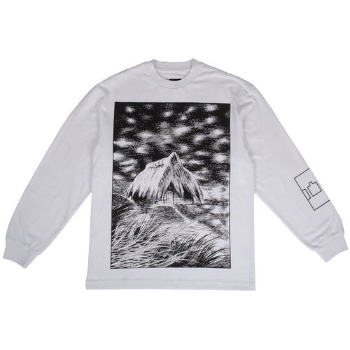"The Trilogy Tapes - ""Unwanted Shelter"" White L/S Tee"