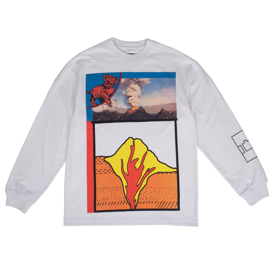"The Trilogy Tapes - ""Volcano"" White L/S Tee"