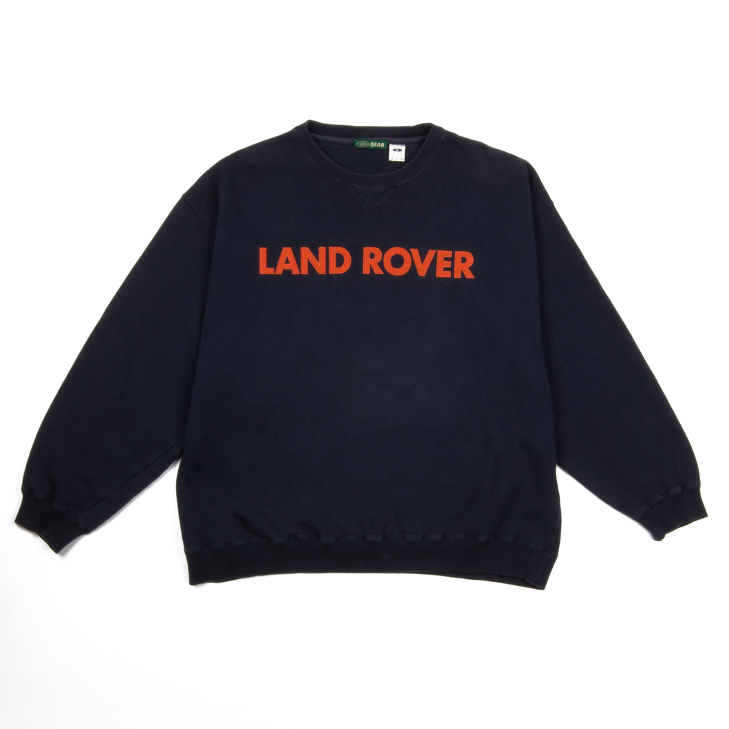 "Vintage Land Rover ""Orange Felt"" Navy XL Crewneck"