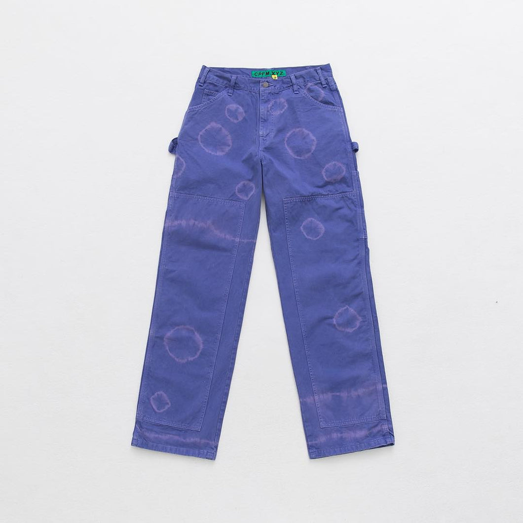 SHIBORI DOUBLE KNEE PAINTER PANT