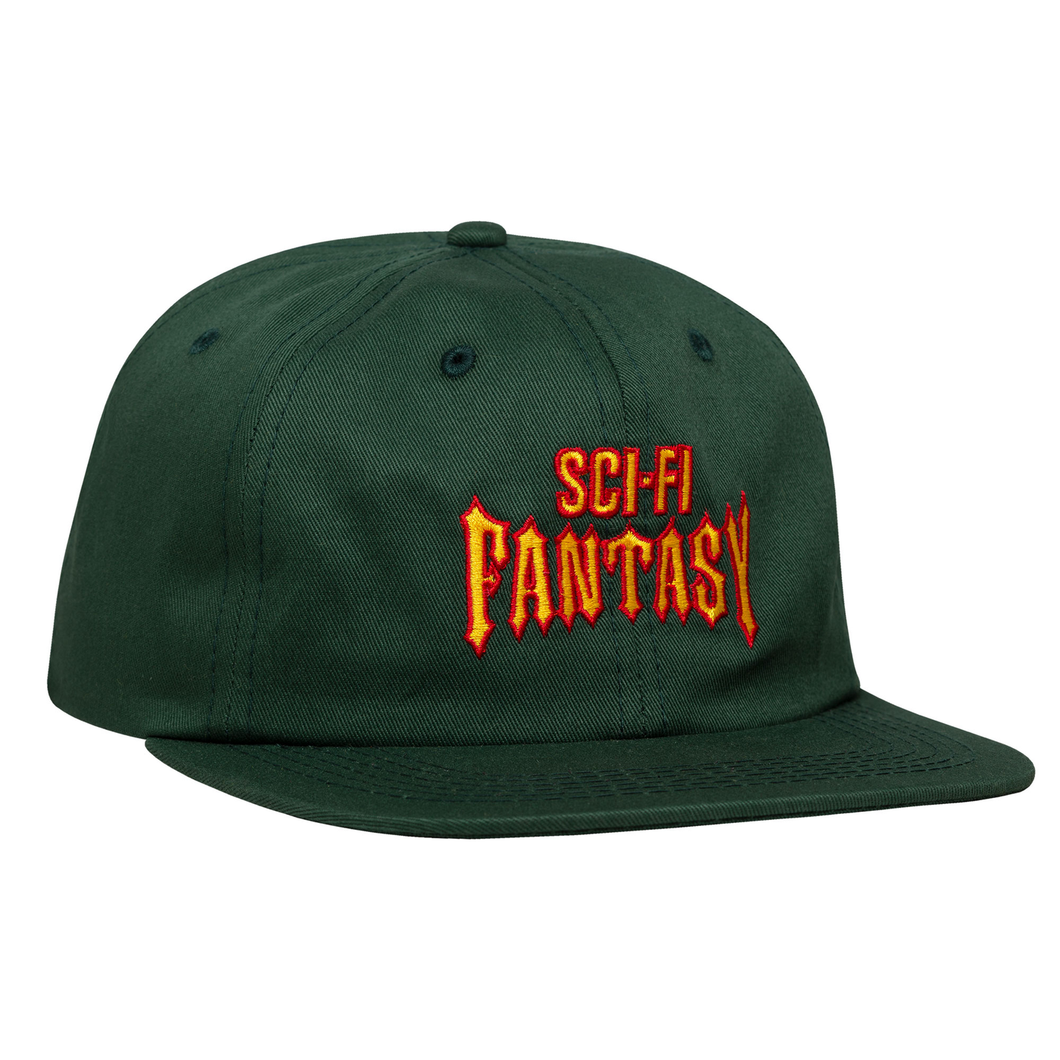 SCI-FI FANTASY BIKER HAT FOREST GREEN