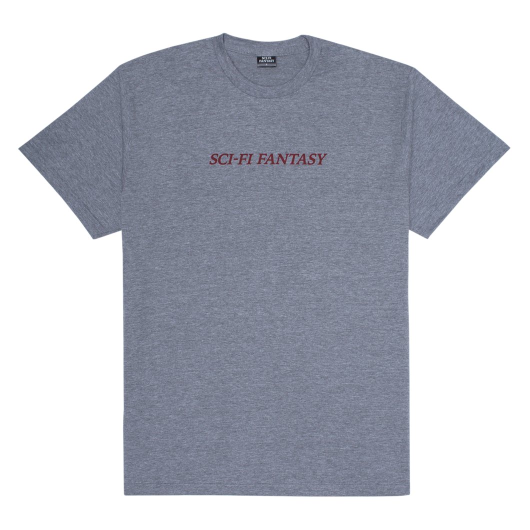 SCI-FI FANTASY LOGO TEE HEATHER GREY