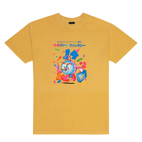 SCI-FI FANTASY TIME TRAVEL TEE MUSTARD