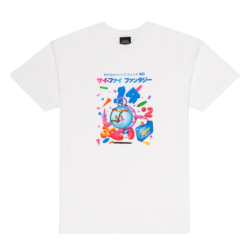 SCI-FI FANTASY TIME TRAVEL TEE WHITE