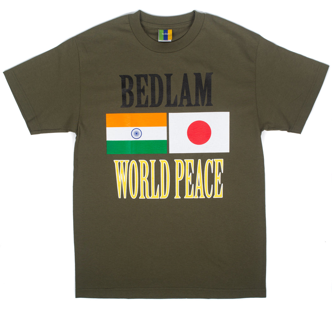 Bedlam Tokyo - World Peace Tee Olive