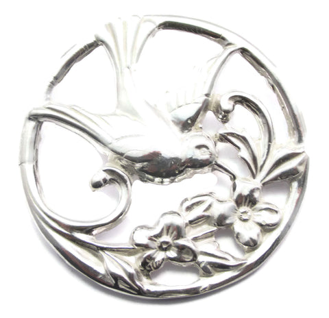 Sterling Silver Hummingbird Brooch