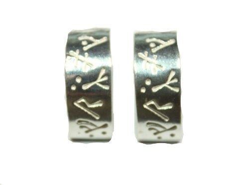 Sterling Silver Scandinavian Norse Runic Earrings