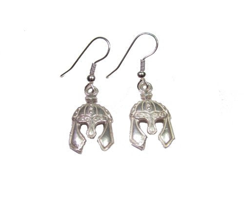 Sterling Silver Viking Helmet Earrings