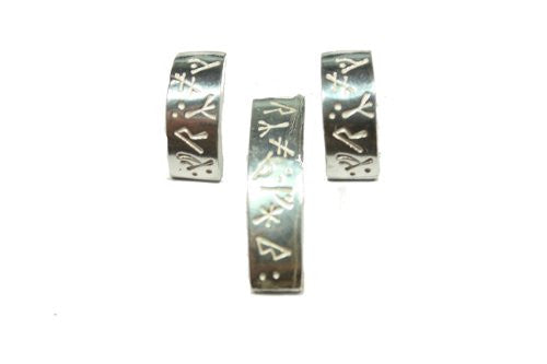Sterling Silver Scandinavian Norse Runic Penant and Earring Set.