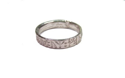 Sterling Silver Younger Futhark Good Health Good Spirit Viking Runic Ring (10)