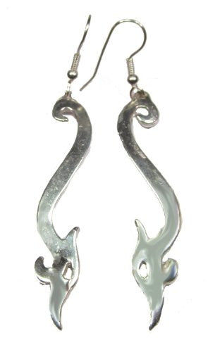 Sterling Silver Jellinge Viking Serpent Earrings