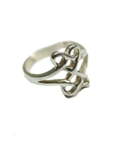 Sterling Silver Double Heart Celtic Love Knot Ring