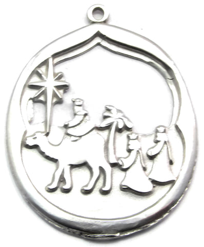 Sterling Silver 3 Wise Men Pendant/ Ornament