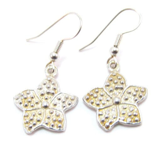 Sterling Silver Star Flower Earrings