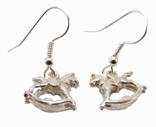 Sterling Silver Rocking Horse Earrings