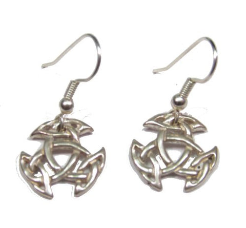 Sterling Silver Celtic Broken Wheel Earrings