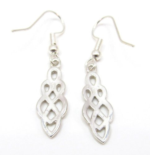 Sterling Silver Traditional Celtic Knot Earrings