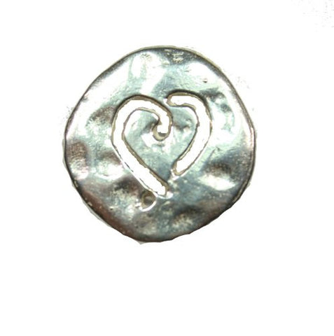 Sterling Silver Carved Heart Pendant
