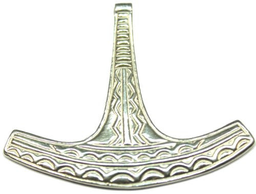 Sterling Silver Scandinavian Traditional Ukonvasara Thor's Hammer