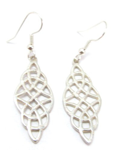 Sterling Silver Traditional Celtic Earrings