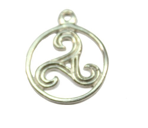 Sterling Silver Celtic Round Triskele Charm