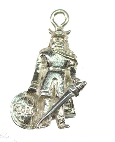 Sterling Silver Viking Soldier Pendant