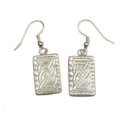 Sterling SIlver Oseberg Scandinavian Celtic Dangle Earrings French Wire