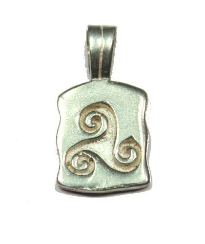 Sterling Silver Celtic Rectangular Triskele Charm