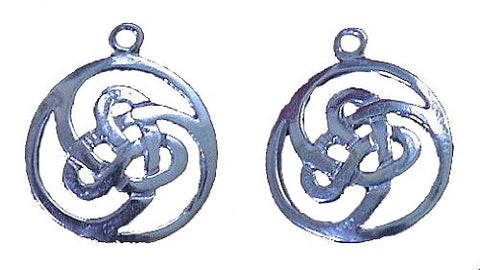 Sterling Silver Celtic Loop Knot Earrings