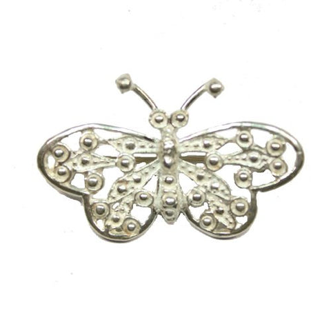 Sterling Silver Filigree Butterfly Pin