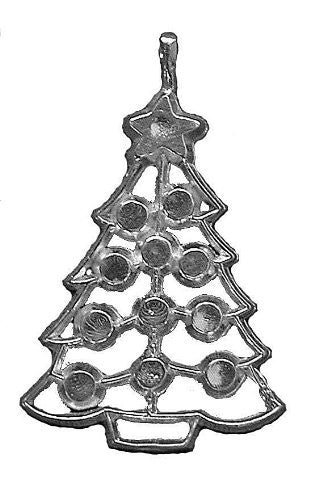 Sterling Silver Christmas Tree Ornament