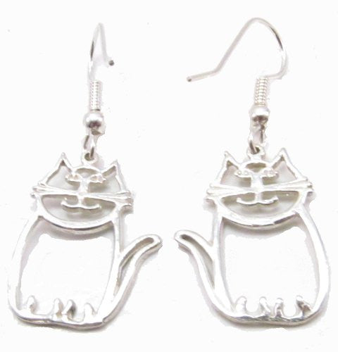 Sterling Silver Le Cat Earrings