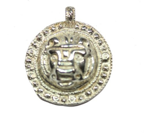 Sterling Silver Roman Lion Head Pendant