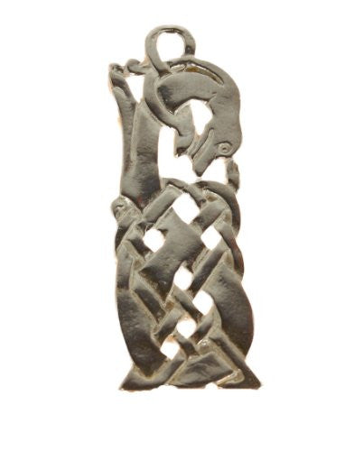 Sterling Silver Celtic Knot Hound Pendant
