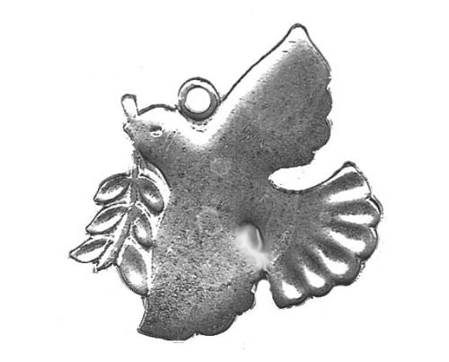 Sterling SIlver Scandinavian Christmas Dove Pendant/ Ornament