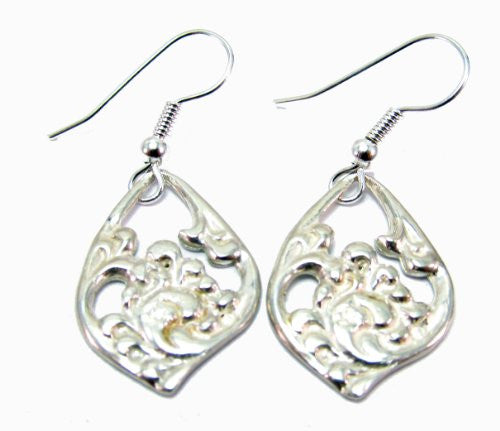 Sterling Silver Acanthus Scandinavian Earrings