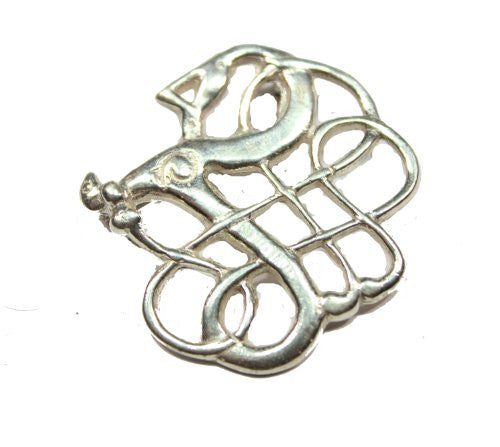 Sterling Silver Lindholm Serpent Pin