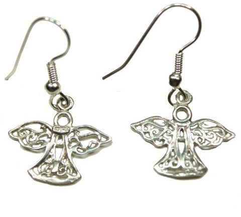 Sterling Silver Filigree Angle Earrings