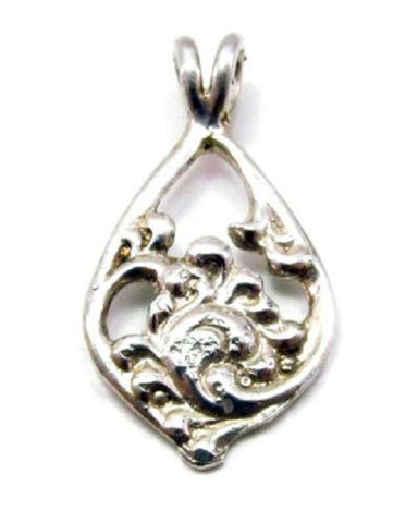 Sterling Silver Acanthus Pendant Scandinavian Norse