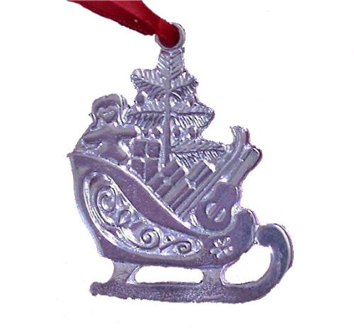 Sterling SIlver Santa Sleigh Ornament
